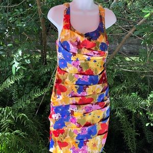 B. Smart Watercolor Size 10 Dress Floral Tier